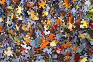 jigsaw pieces pile
