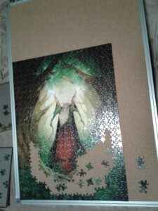Puzzle almost done